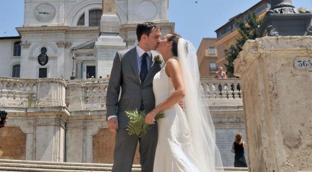 BARRY and Katie McGrath from south Belfast are enjoying married life following their beautiful August 10 wedding in Italy.Katie (28) a retail manager from Belfast - whose surname was McGrath before she married - first met Barry (34) a sales executive from Downpatrick, at a fancy dress house party three-and-a-half years ago.