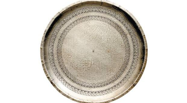 Antiqued Silver Wooden Plate Eburyhomeand garden.com, £35 At 30cm in diameter, this would look great propped up in a bedroom or on a dressing table piled with jewellery and those other bits and bobs that need to be kept in one place.