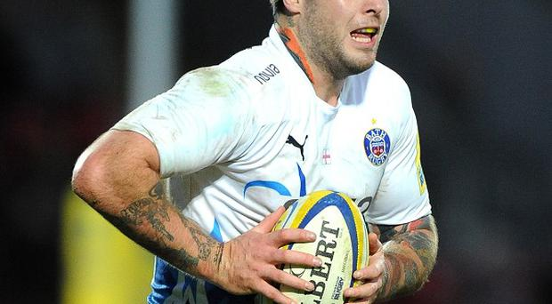Matt Banahan left the Rec in a brace after suffering a knee injury against Wasps