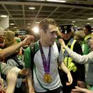 Double gold medal winner Jason Smyth arrives back into Dublin Airport