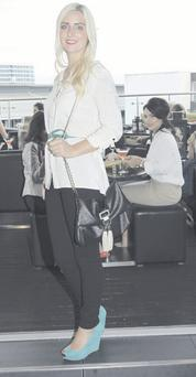 <b>Marian Mawhinney (26), PR manager, Jordanstown</b><br/> <b>Wore what?</b> Shirt, New Look, £19, bag, River |Island, £20, belt, Primark, £2, jeans, River Island, £40, shoes, Zara, £50. <b>Why? </b>During the week my style is casual but at weekends I go for glamour. I've never liked those leggings with the black and white stripes — they're not very flattering. <b>Who?</b> I love Blake Lively's style, I think she looks beautiful in everything. Snooki from Jersey Shore is horrendous, though. <b>Monthly spend </b> £350