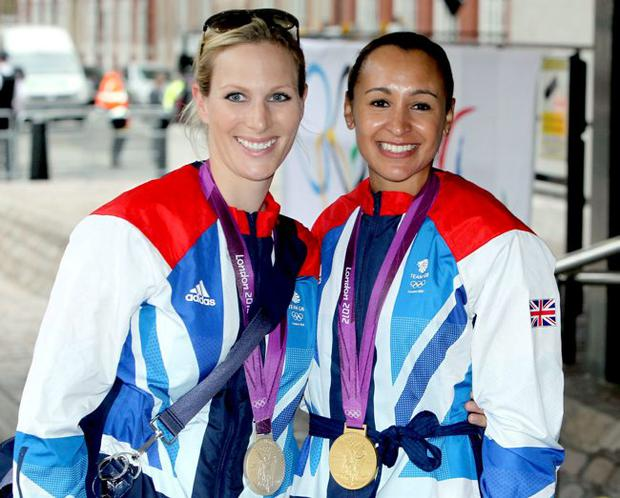 Role models: Jessica Ennis with Zara Phillips