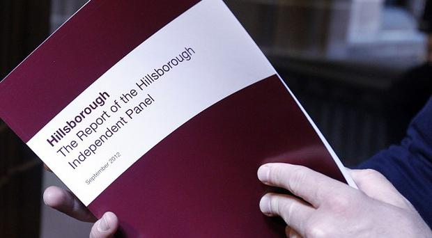 A copy of the report delivered by the Hillsborough Independent Panel is read at Liverpool's Anglican Cathedral