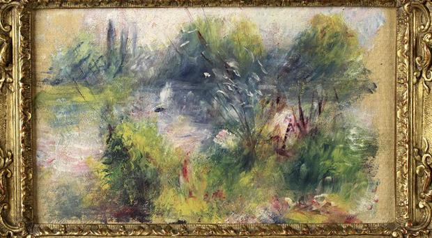 The Renoir painting bought by a woman for seven dollars at a flea market in West Virginia (AP Photo/Potomack Company)