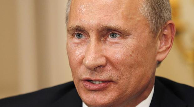 Vladimir Putin said he was angry about set-up publicity stunts