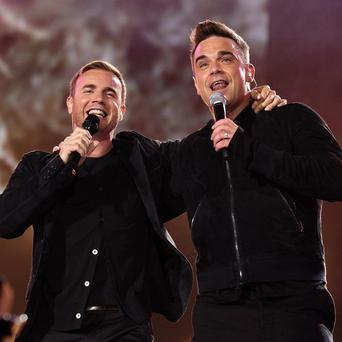 Robbie Williams paid tribute to his bandmate Gary Barlow