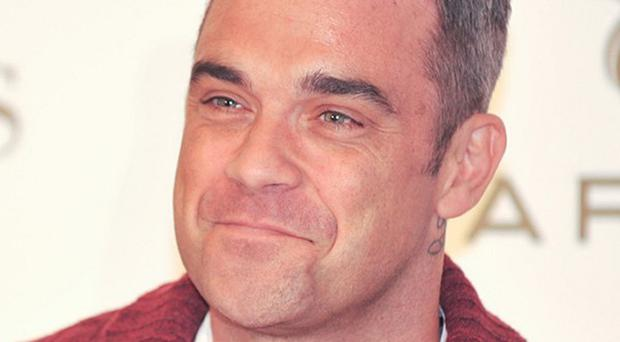 Singer Robbie Williams at the Dublin launch of Farrell, the brand inspired by his Irish grandfather