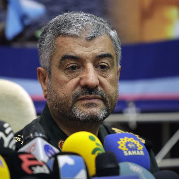 General Mohammad Ali Jafari has said that 'nothing will remain' of Israel if it attacks Tehran (AP)