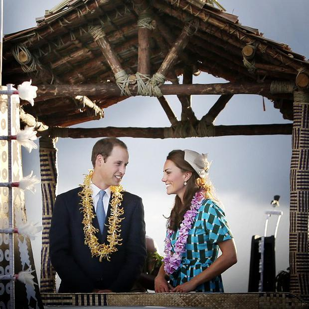 The Duke and Duchess of Cambridge have received a rapturous welcome from the people of the Solomon Islands