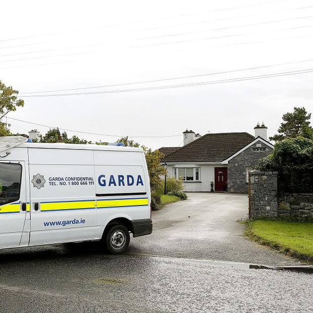The house on Bachelor's Walk in Tullamore, Co Offaly, where the body of an 11-year-old girl was discovered by Gardai