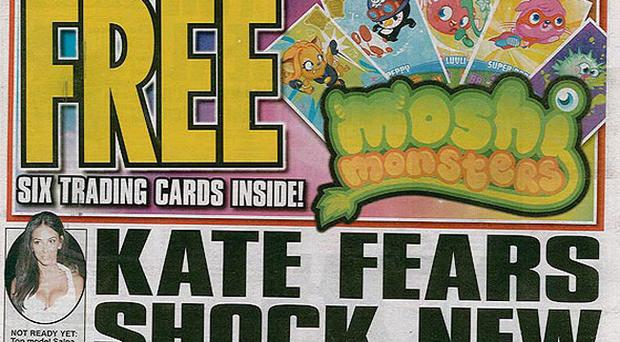 The Irish Daily Star edition which published topless pictures of Kate, Duchess of Cambridge