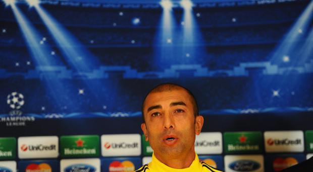 LONDON, ENGLAND - SEPTEMBER 18: Chelsea coach Roberto Di Matteo faces the media during a Chelsea Training Session & Press Conference ahead of the Uefa Champions League Group E match between Chelsea and Juventus at Stamford Bridge on September 18, 2012 in London, England. (Photo by Mike Hewitt/Getty Images)