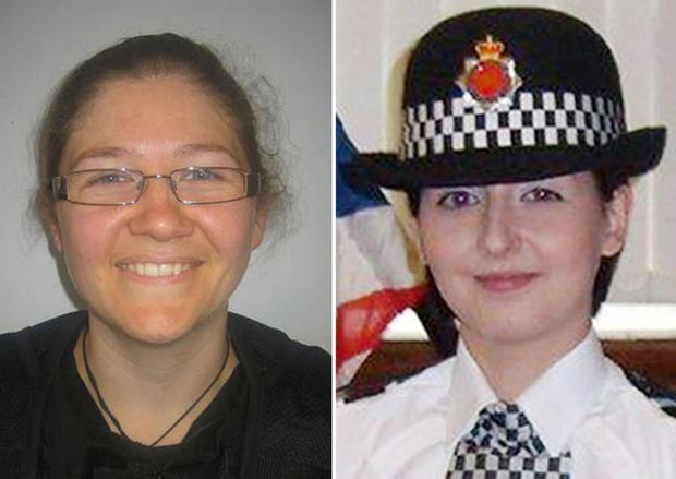 Fiona Bone, 32, and Nicola Hughes (right), 26 who were killed in the line of duty while attending a