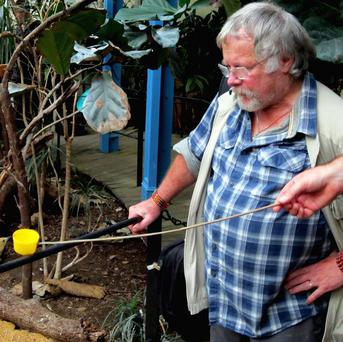 Bill Oddie translates bird calls into Tweets at ZSL London Zoo