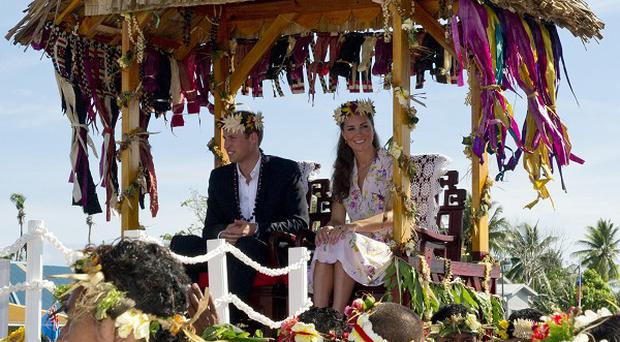 The Duke and Duchess of Cambridge bid farewell to Tuvalu, Solomon Islands (Arthur Edwards/The Sun/PA)