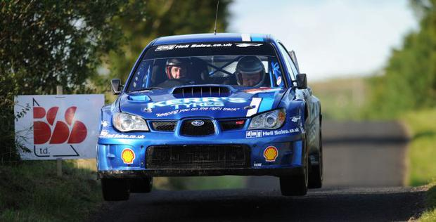 Pole position: Derek McGarrity has a 10-point lead going into the last event in the Northern Ireland Rally Championship