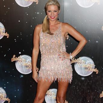 Denise Van Outen has sore feet thanks to her Strictly ballroom training