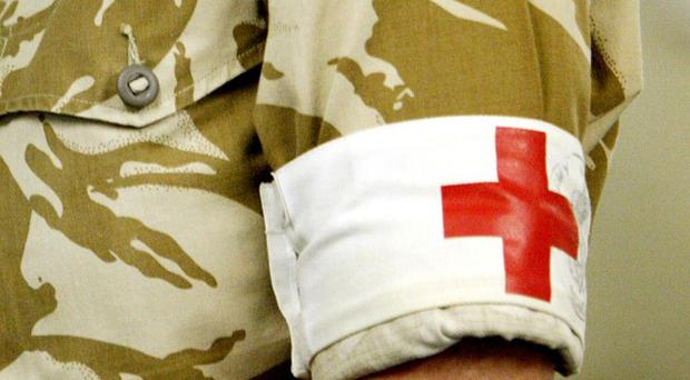 A British soldier has given birth in Afghanistan after apparently not knowing she was pregnant