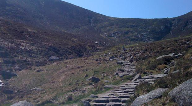 A father and son were rescued from the Mourne Mountains after getting into trouble. Pic Christina Price
