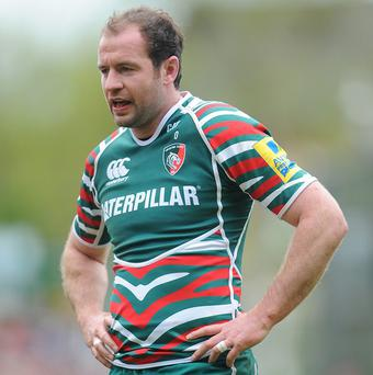 Geordan Murphy has been ruled out of Leicester's clash against Harlequins with a knee injury