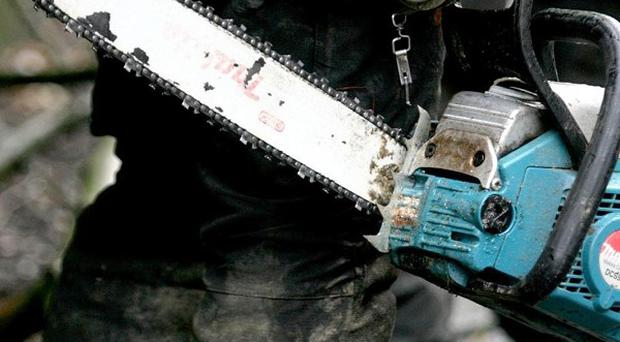 A woman in the US used an electric saw to try to kill her husband