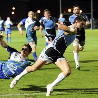 Peter Murchie scores Glasgow Warriors' second try against Connacht
