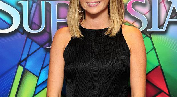 Amanda Holden arriving at the opening night of musical Jesus Christ Superstar at the O2 in London