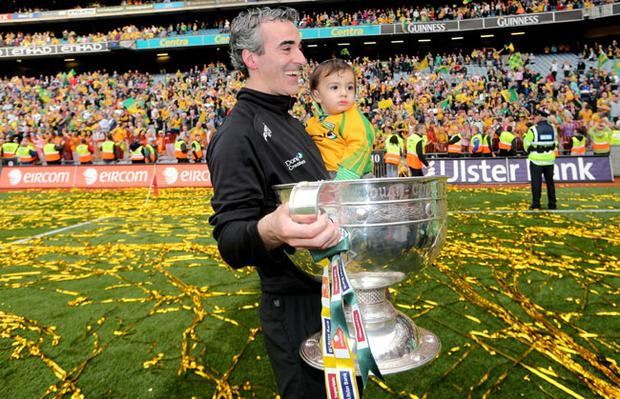 Donegal manager Jim McGuinness, Croke Park, Dublin 23/9/2012