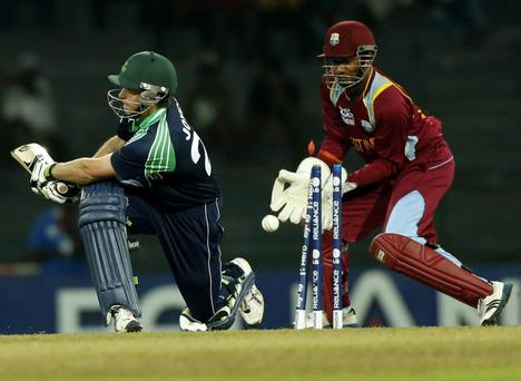 Determined: Batsman Ed Joyce wants Ireland to improve on Windies's win