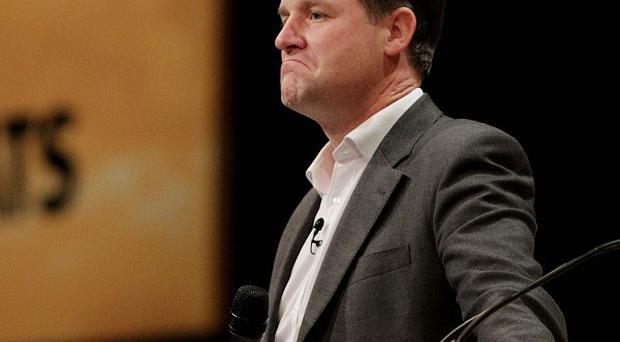 Nick Clegg's pop career is under way after he entered the charts