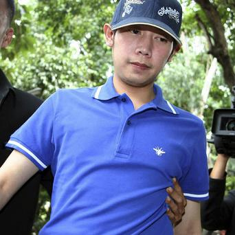 Red Bull heir Vorayuth Yoovidhya,who is accused of killing a policeman in a hit-and-run accident (AP)