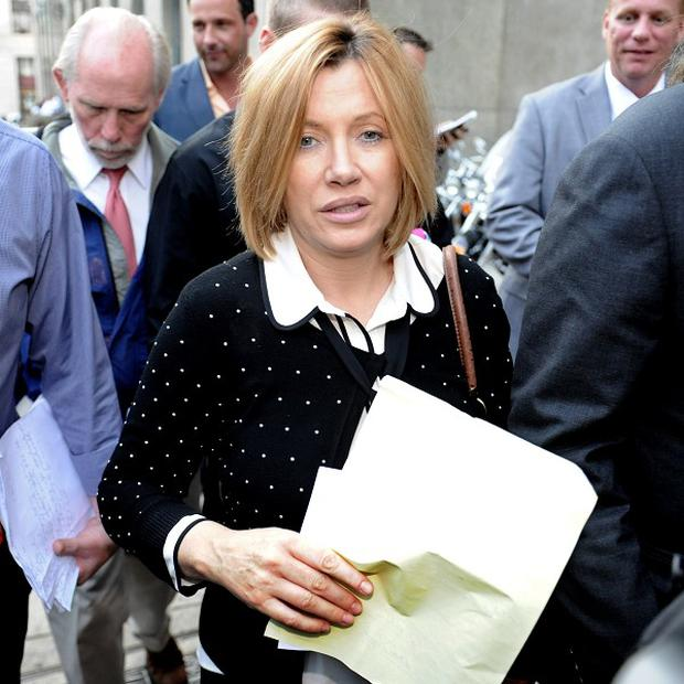 Anna Gristina exits Manhattan Criminal Court after admitting a charge of promoting prostitution (AP)