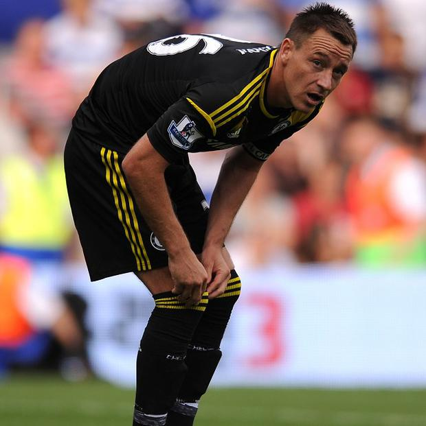 John Terry has been unable to do much training with his Chelsea team-mates this week