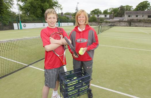 Peter Bothwell pictured along with his Mum and coach Louise