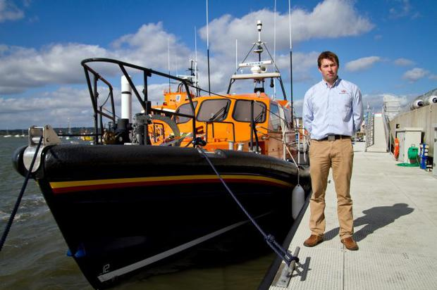 Speed boats: Peter Eyre who designed the new hull for the Shannon lifeboat