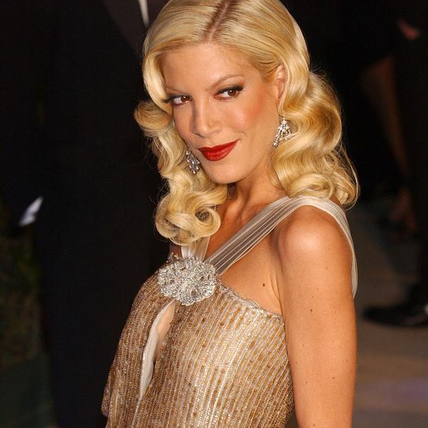 Tori Spelling has told fans she is on the mend