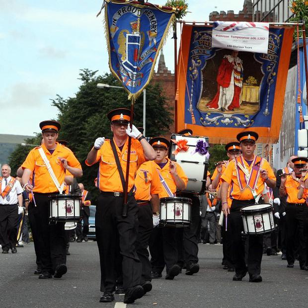 The Orange Order will only be allowed to play sacred music when it passes St Patrick's Catholic church in Belfast this weekend