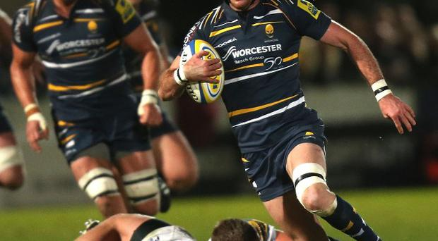Jon Clarke, right, helped Worcester to a bonus-point win