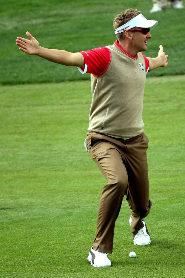 Ian Poulter of Europe