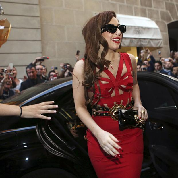 Lady Gaga stepped out in Milan in a show-stopping red dress