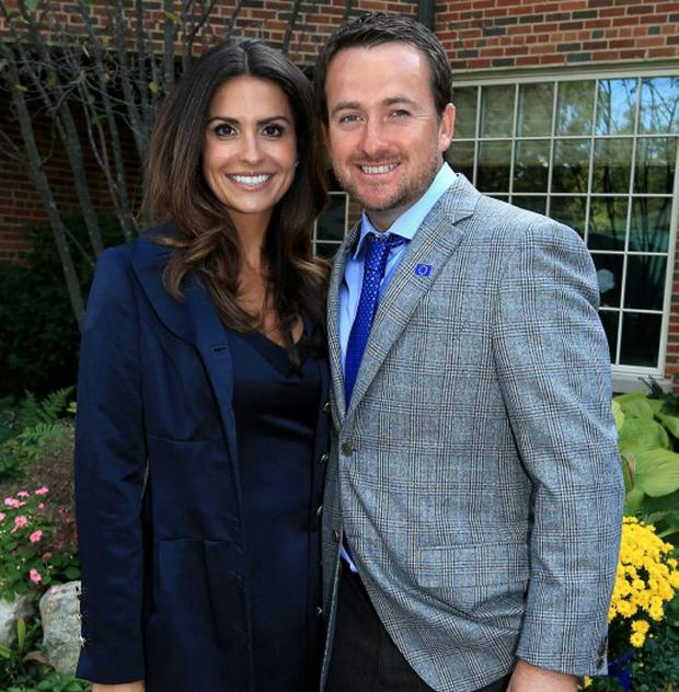 Graeme McDowell with his girlfriend Kristin Stape