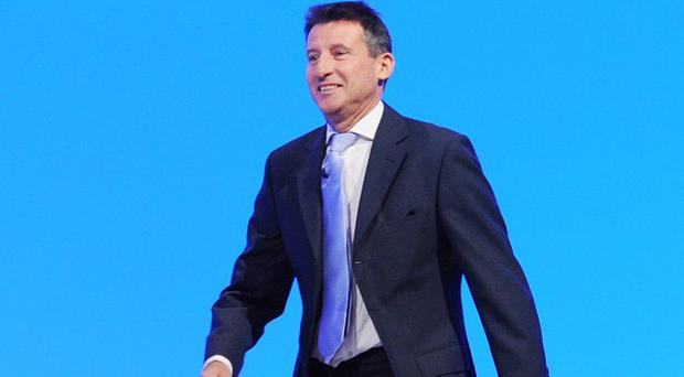 Lord Coe arrives at a rally to honour Team GB athletes at Manchester Central during the Labour Party Conference