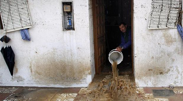 Southern Spain has been hit by torrential downpours (AP)