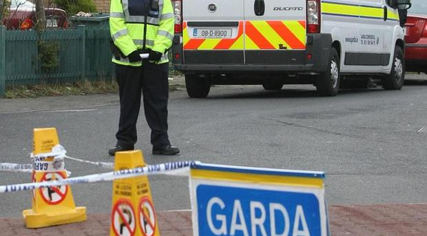 The scene in Brookview Way, Tallaght, Dublin, where Melanie McCarthy McNamara died