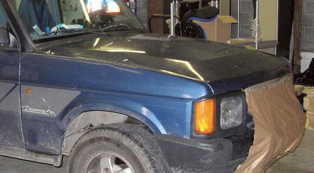 Dyfed-Powys Police undated handout photo of the Land Rover belonging to 46-year-old Mark Bridger