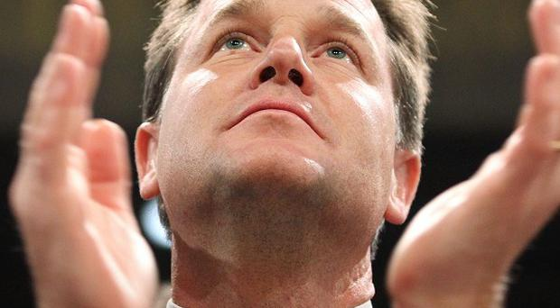 Nick Clegg has announced funding to help victims of the unrest in Syria
