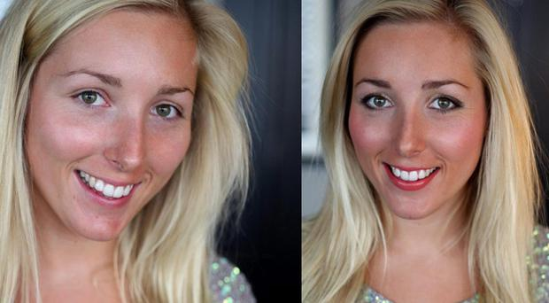 Katie Cochrane before and after her makeover