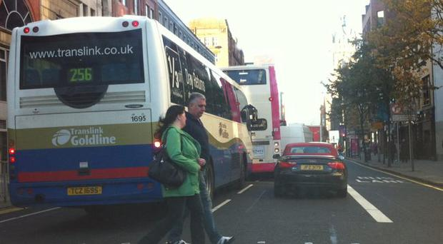 Not even the bus drivers are using Belfast bus lanes