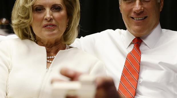 Mitt Romney and his wife Ann prepare for the first presidential debate in Denver (AP)