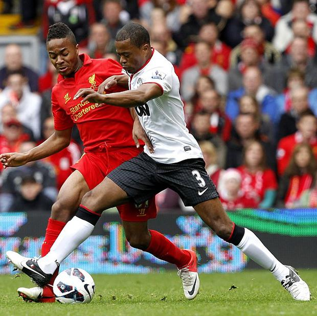 Raheem Sterling, left, has impressed for Liverpool this season